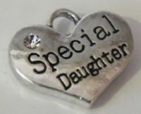 Special Daughter Earrings - Drop Charm Style